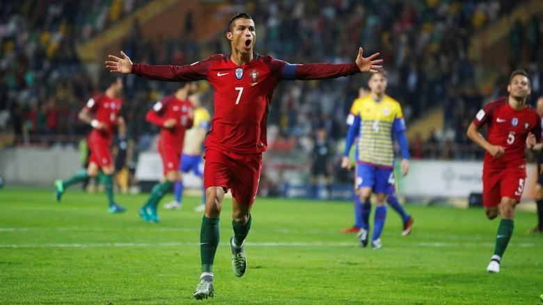 Cristiano Ronaldo Cetak Quatrick Saat Portugal Lumat Andorra 6-0