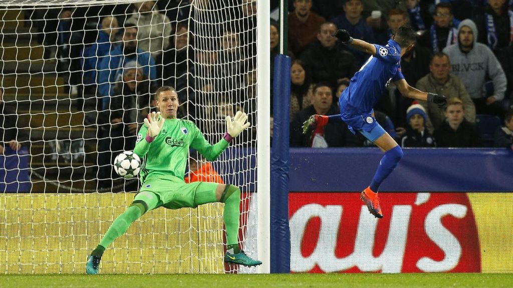 Gol Tunggal Mahrez Menangkan Leicester atas FC Copenhagen