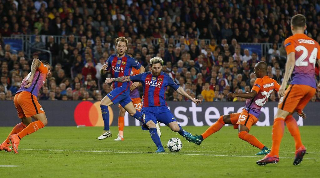 Messi Hat-trick, Barcelona Lumat City 4-0