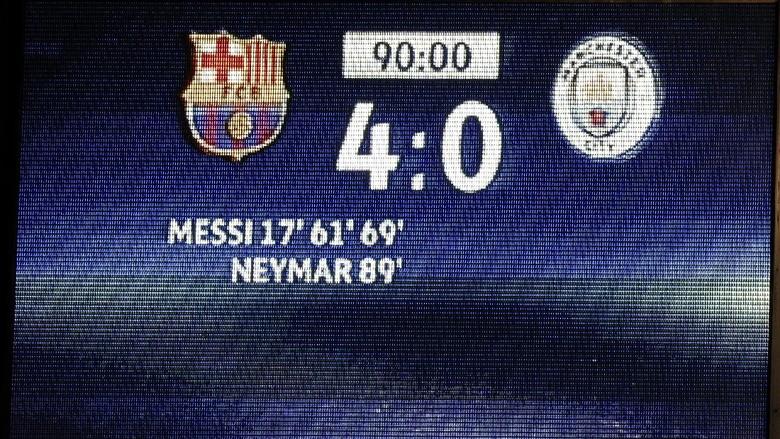 Kekalahan City Bertambah Atas Barcelona
