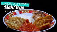 Warung Sego Sambel Mak Yeye , Kuliner Wajib Kota Surabaya