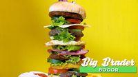 Burger Setinggi Menara ala Big Brader Resto, Bogor