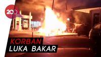 Gara-gara Isi Bensin Tak Matikan Mesin, SPBU di Sukabumi Terbakar