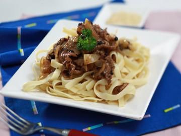 Resep Pasta: Fettucine Black Pepper