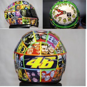 Auto Racing Replica Helmets on Valentino Rossi   S Helmet    Auto Rozi Blog