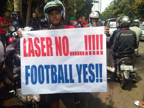 Laser No......!!!!! Football Yes!!
