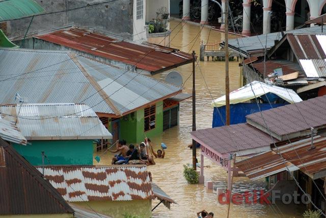 Ribuan Rumah di Medan Terendam Banjir