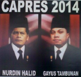 Poster Nurdin-Gayus, Capres Indonesia Tahun 2014