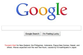 Google tsunami warn