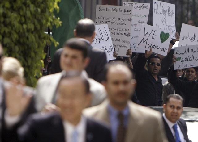 Sekjen PBB Diusir Pendukung Khadafi