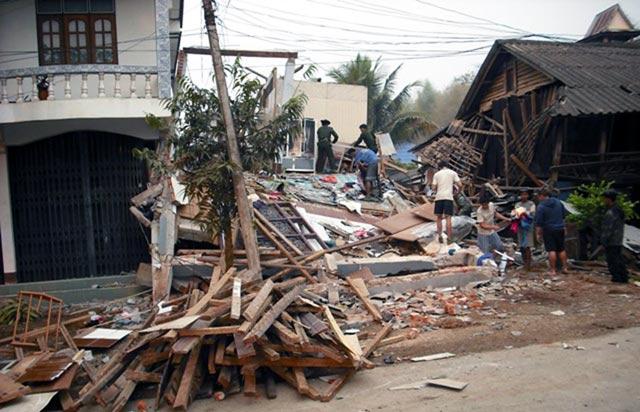 Kerusakan Gempa Myanmar