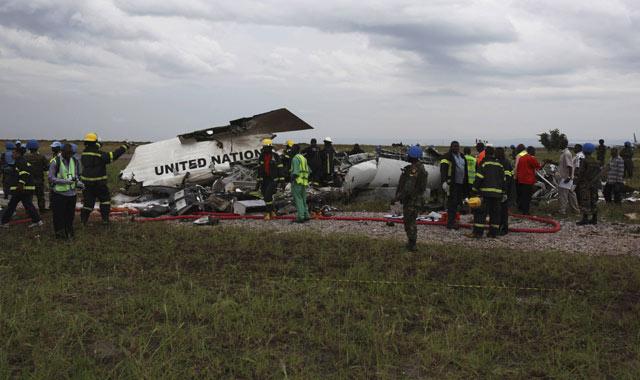 Pesawat PBB Jatuh di Kongo
