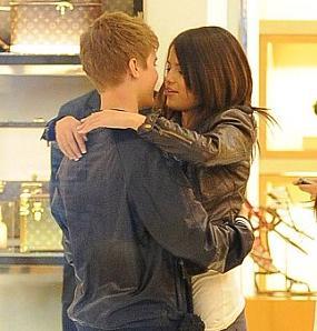 Foto Selena Gomez dengan Justin Bieber