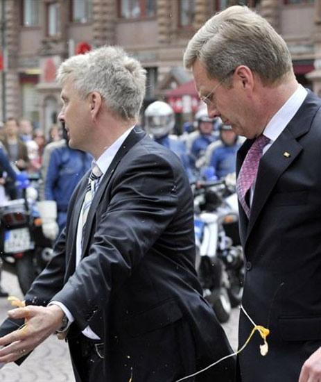 Presiden Jerman Dilempari Telur