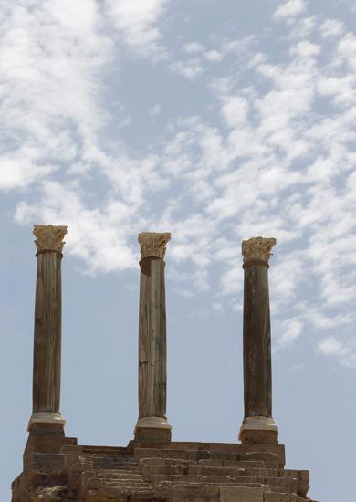 Melihat Reruntuhan Kota Kuno Leptis Magna