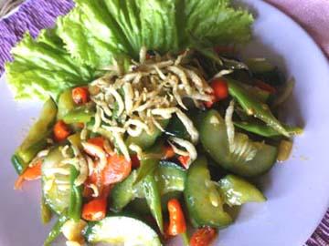 Resep Sayuran: Tumis Kyuri Ikan Teri