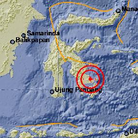 Gempa 5,2 SR Goyang Kendari Sulawesi Tenggara