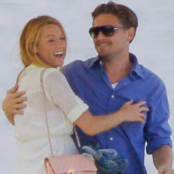 Leonardo DiCaprio looks tenderly with Blake Lively