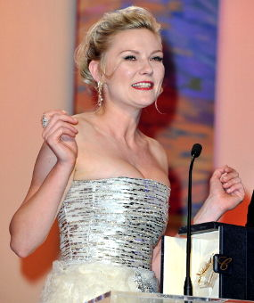 Top Celebrity - Kirsten Dunst 2011 Cannes Best Actress