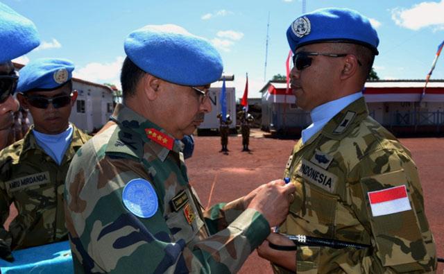 Prajurit TNI Dapat Medali PBB