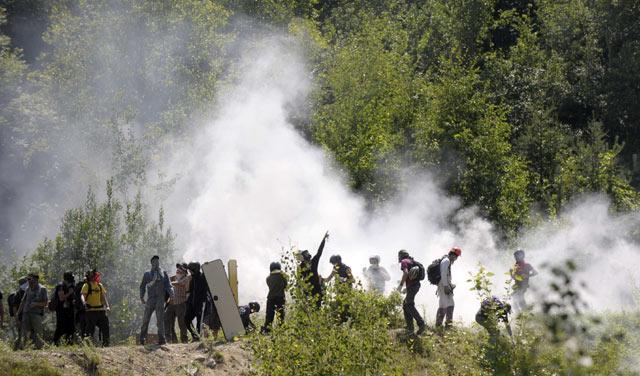 Demo Rusuh di Italia Puluhan Orang Terluka