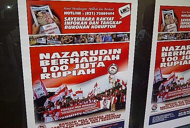 Sayembara Menangkap Nazaruddin Berhadiah 100 Juta