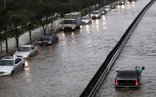 Banjir Landa Korsel