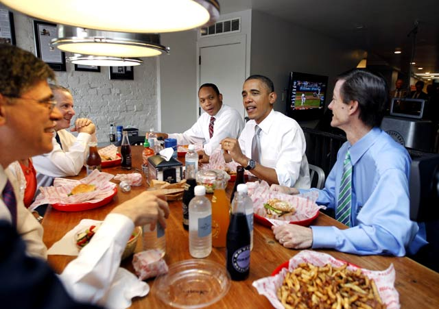 Obama Antre Burger