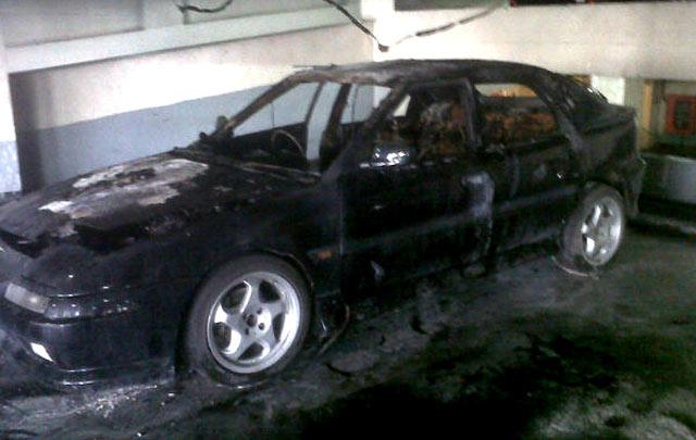 Mazda Terbakar di Hotel Jayakarta