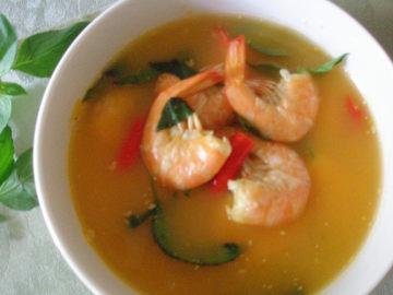 Resep Seafood: Udang Kuah Asam Pedas