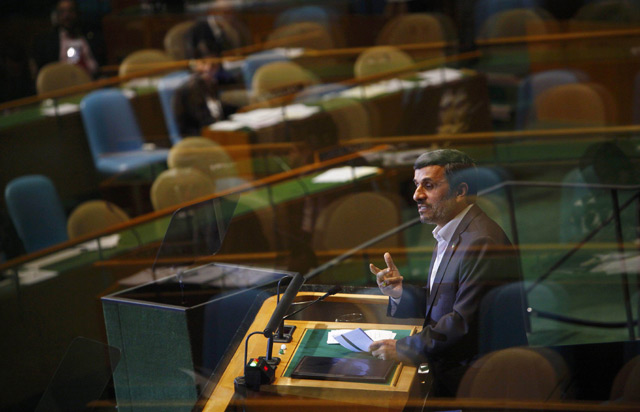 Ahmadinejad Pidato, Delegasi AS Walk Out