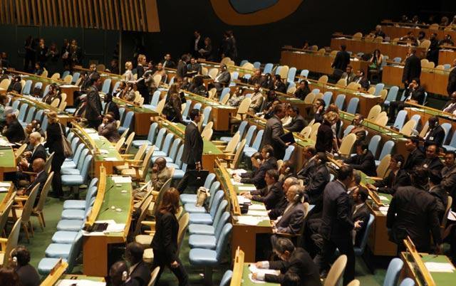 Ahmadinejad Pidato, Delegasi AS Walk Out