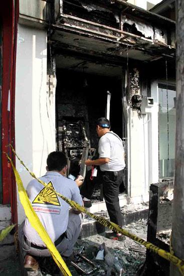 ATM BRI di Yogyakarta Dibakar
