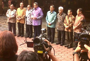 FOTO PIDATO LENGKAP PRESIDEN SBY RESHUFFLE DI CIKEAS
