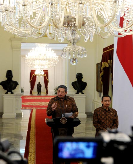 SBY Umumkan Reshuffle Kabinet