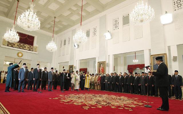 SBY Lantik Menteri Baru