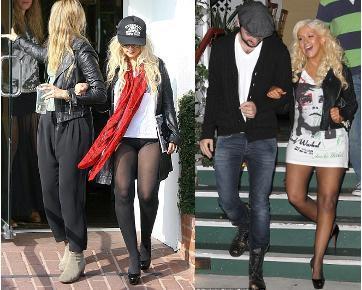Hm, Christina Aguilera Belanja Hanya Pakai Celana Dalam