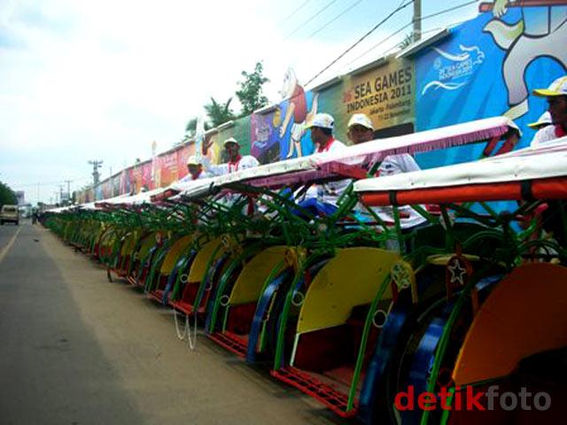 Becak Gratis Untuk Atlet SEA Games