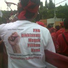 Foto Karyawan Telkomsel Lancar Aksi Mogok Telkomsel Jamin Aman Layanan