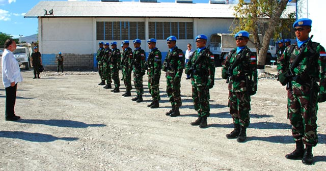 Pimpinan Minustah Kunjungi Camp TNI di Haiti