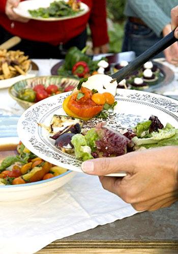 perut rata dengan mengurangi porsi makan