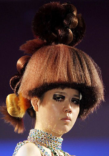 Hair Bowl - Hair shell model is expected to be a trend. But the parade of Korean hair is made more extreme in 2012 to form the bowl upside down.