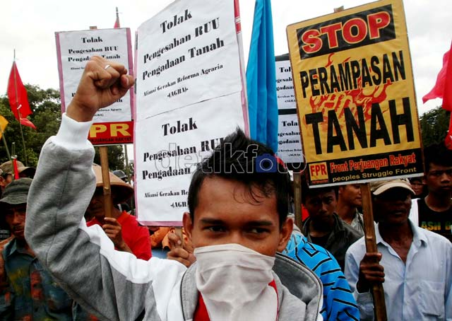 Demo Tolak RUU Pengadaan Tanah