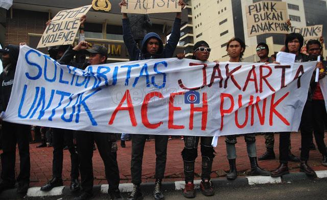 Aksi Solidaritas untuk Punk Aceh