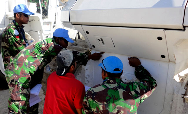 Minustah Periksa Peralatan TNI di Haiti