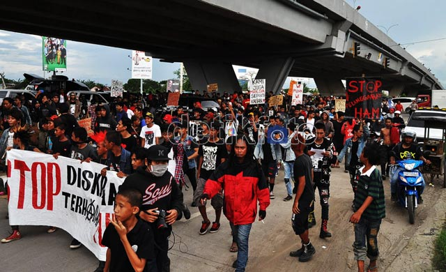 Punkers Makassar Kecam Polisi