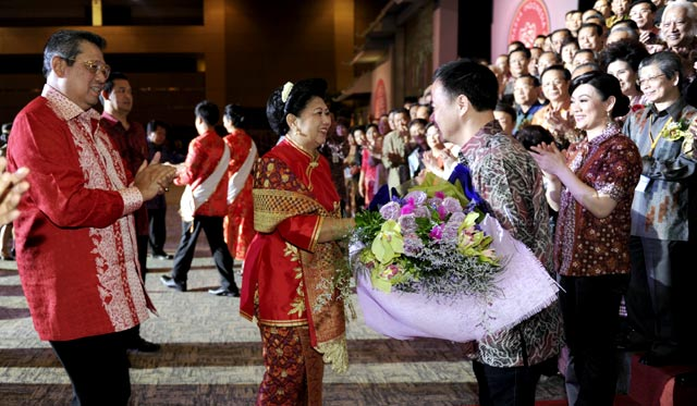 SBY Hadiri Silaturahmi Hakka Indonesia Sejahtera