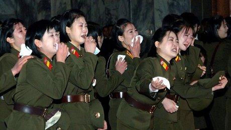 Foto Prosesi Pemakaman Presiden Korea Utara