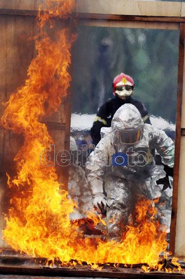 Simulasi Penanganan Kebakaran di Monas