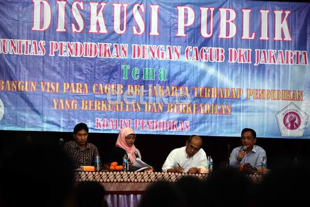 Diskusi Pendidikan Hanya Dihadiri 2 Cagub